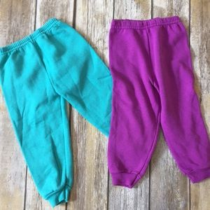 Other - Teal and purple sweatpants
